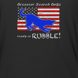 Disaster Search Dog Ready to RUBBLE - Baseball T-Shirt
