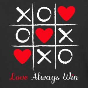 Tic and toe heart valentine - Baseball T-Shirt