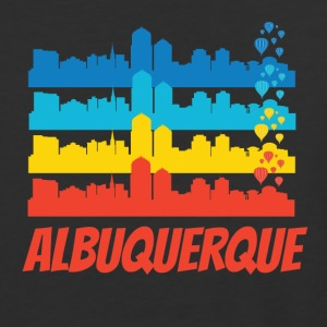 Retro Albuquerque NM Skyline Pop Art - Baseball T-Shirt