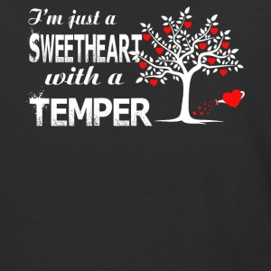 I'm Just A Sweetheart With A Temper T Shirt - Baseball T-Shirt