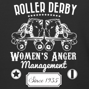 Roller Derby - Women's Anger Management Since 1935 - Baseball T-Shirt