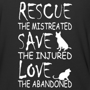 Rescue the mistreated save the injured love - Baseball T-Shirt