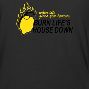 Burn Lifes House Down Quote - Baseball T-Shirt