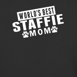 World's Best Staffie Mom - Baseball T-Shirt