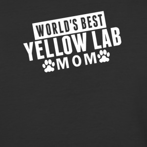 World's Best Yellow Lab Mom - Baseball T-Shirt