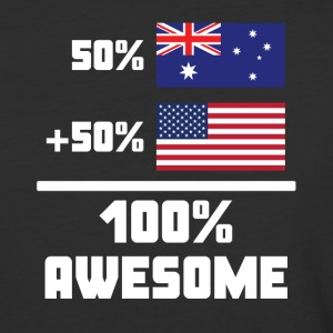 50% Australian 50% American 100% Awesome Flag - Baseball T-Shirt