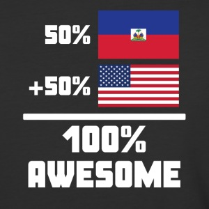 50% Haitian 50% American 100% Awesome Funny Flag - Baseball T-Shirt