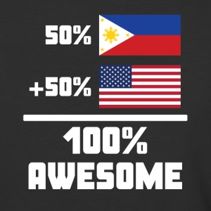 50% Filipino 50% American 100% Awesome Funny Flag - Baseball T-Shirt