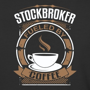 Stockbroker Fueled By Coffee - Baseball T-Shirt