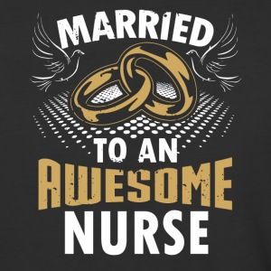 Married To An Awesome Nurse - Baseball T-Shirt
