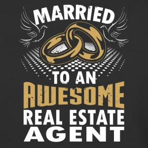 Married To An Awesome Real Estate Agent - Baseball T-Shirt