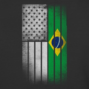 Brazilian American Flag - Baseball T-Shirt