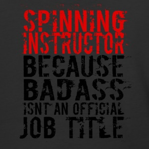 SPINNING INSTRUCTOR BADASS JOB TITLE - Baseball T-Shirt