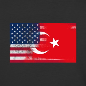 Turkish American Half Turkey Half America Flag - Baseball T-Shirt