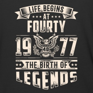 Life Begins at Fourty Legends 1977 for 2017 - Baseball T-Shirt
