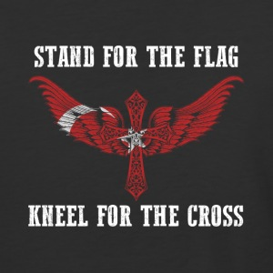 Stand for the flag Turkey kneel for the cross - Baseball T-Shirt