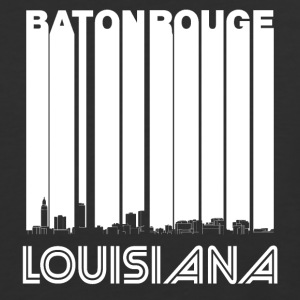 Retro Baton Rouge Louisiana Skyline - Baseball T-Shirt