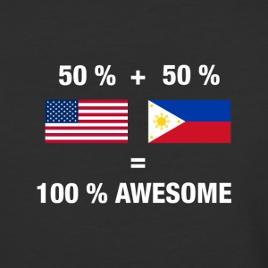 Half Filipino Half American 100% Awesome Philippin - Baseball T-Shirt