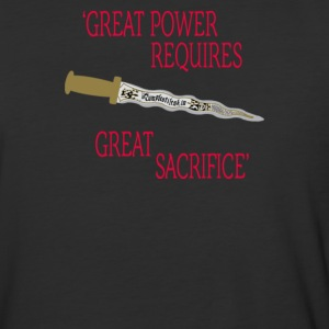 Great power requires great sacrifice - Baseball T-Shirt