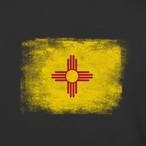 New Mexico State Flag Distressed Vintage - Baseball T-Shirt