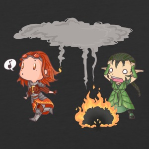 Chandra v. Nissa - Where there's smoke... - Baseball T-Shirt