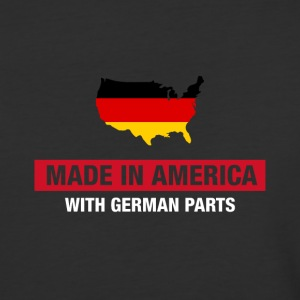 Made In America With German Parts Germany Flag - Baseball T-Shirt