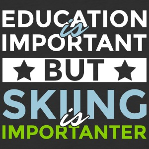 Education is important but skiing is importanter - Baseball T-Shirt