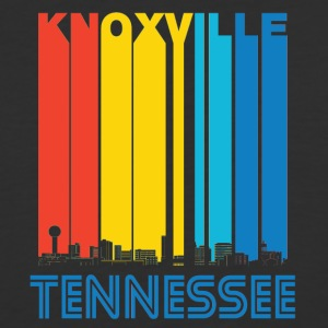 Retro Knoxville Tennessee Skyline - Baseball T-Shirt