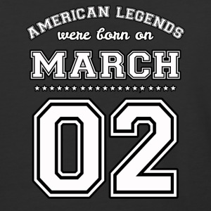 March 2 Birthday Date American Football Style - Baseball T-Shirt