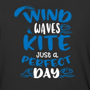 Wind Waves Kite Just A Perfect Day - Baseball T-Shirt