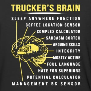 Trucker's Brain Shirt - Baseball T-Shirt