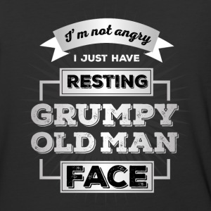 Resting Grumpy Old Man Face - Baseball T-Shirt