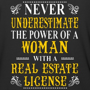 A Woman With A Real Estate License T Shirt - Baseball T-Shirt