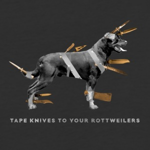 Tape knives to your Rottweilers - Baseball T-Shirt