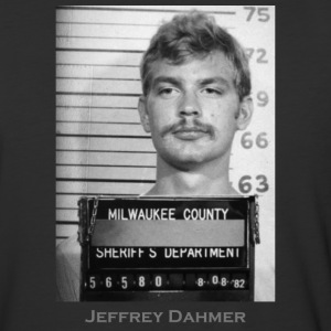 Jeffrey Dahmer Serial Killer Mugshot - Baseball T-Shirt