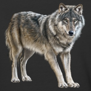 european wolf - Baseball T-Shirt