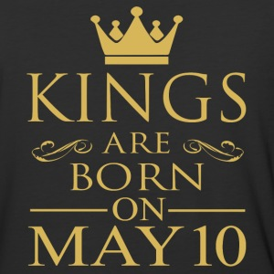 Kings are born on May 10 - Baseball T-Shirt