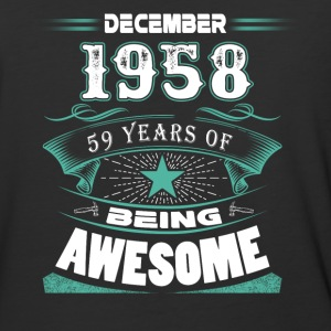 December 1958 - 59 years of being awesome - Baseball T-Shirt