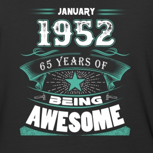 January 1952 - 65 years of being awesome (v.2017) - Baseball T-Shirt