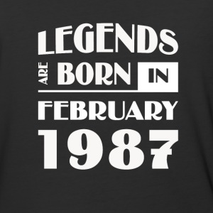 Legends are born in February 1987 - Baseball T-Shirt