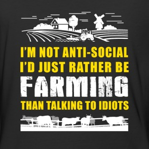 Farming than talking to idiots T Shirts - Baseball T-Shirt