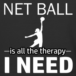 Netball is my therapy - Baseball T-Shirt