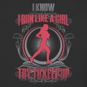 Run like a girl - Baseball T-Shirt