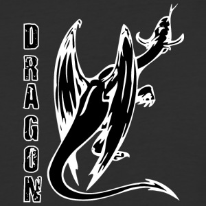 back_of_dragon_black - Baseball T-Shirt