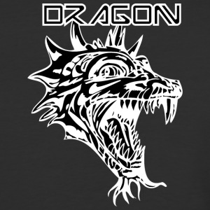 dragon_with_beard_black - Baseball T-Shirt