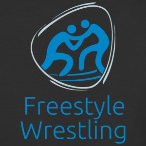 Freestyle_wrestling_blue - Baseball T-Shirt