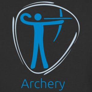 Archery_blue - Baseball T-Shirt