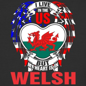 I Live In The Us But My Heart Is In Welsh - Baseball T-Shirt