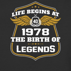 Life Beigns At 1978 The Birth Of Legends - Baseball T-Shirt