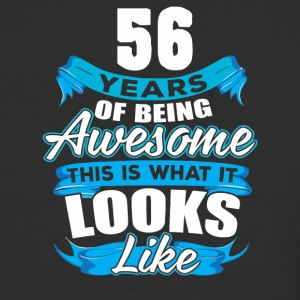 56 Years Of Being Awesome Looks Like - Baseball T-Shirt